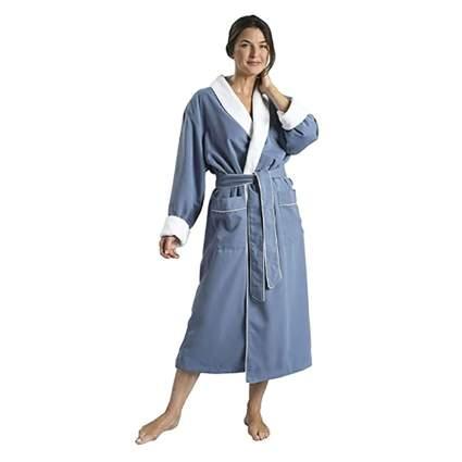 plush lined spa robe