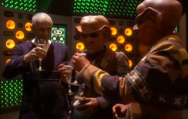 "Quark and his business associates in ""Star Trek: Deep Space Nine"""
