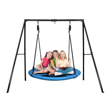 Trekassy Swing Set with 40-Inch Saucer Tree Swing