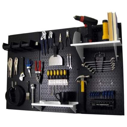 Black pegboard tool organizer