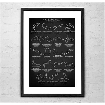 Poster of Grand Prix racing circuits