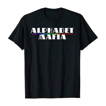 Black alphabet mafia tshirt