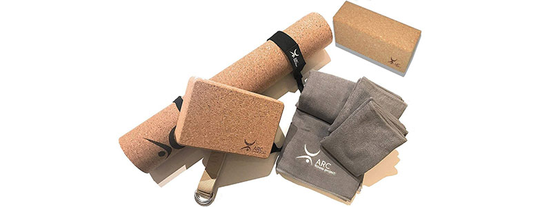 arc natural cork yoga set