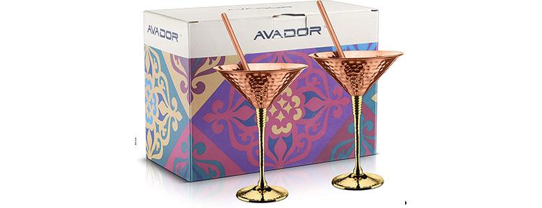 avador copper martini glass