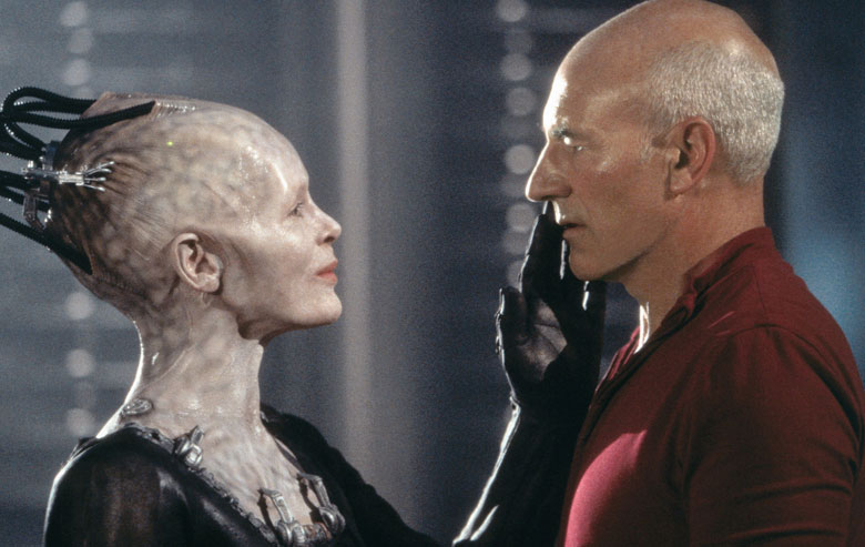 The Borg Queen with Picard