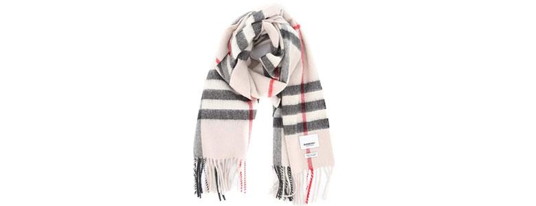 burberry check cashmere scarf stone