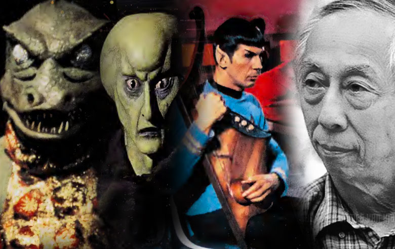 Wah Ming Chang and some of his creations for 'Star Trek.'