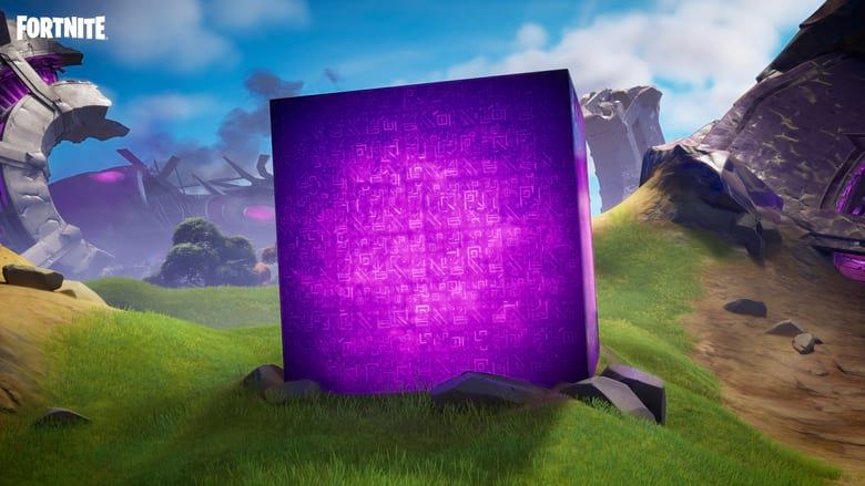 fortnite season 8 purple cube