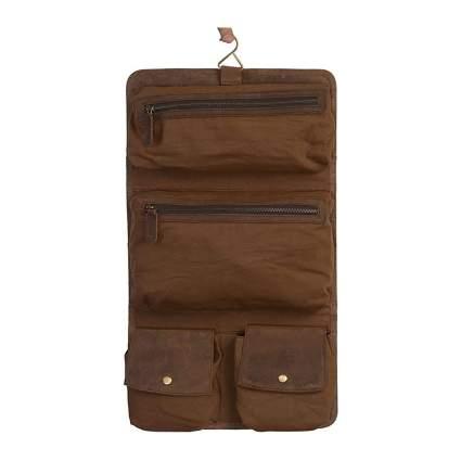 Leather hanging vanity bag