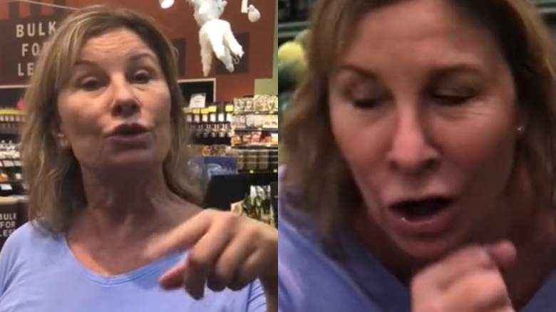 lincoln nebraska coughing woman grocery store video