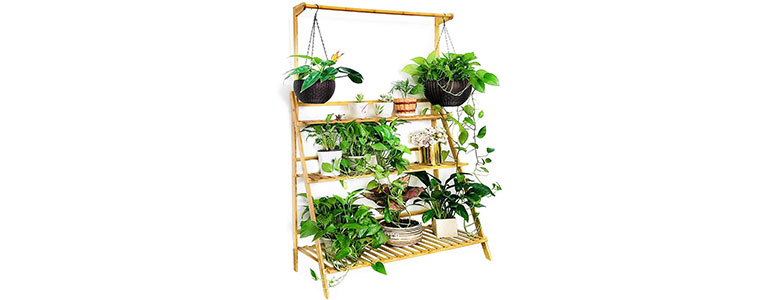 moutik bamboo flower display stand