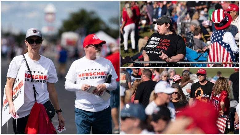 How many attended Trump's Georgia rally