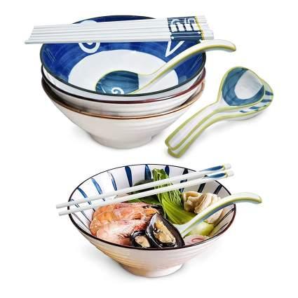 ramen bowls with chopsticks