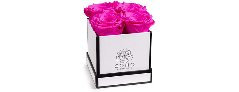 soho floral arts roses in a box
