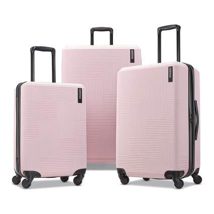 pink hardside spinner luggage set