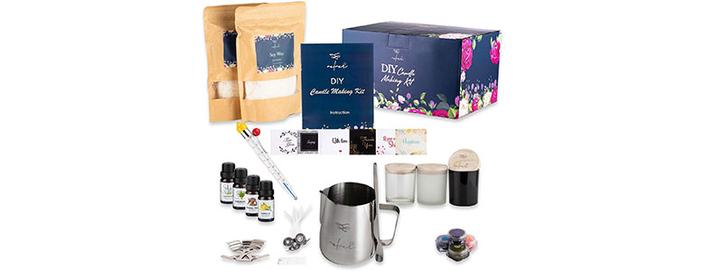 velver candle making kit soy wax scented candle