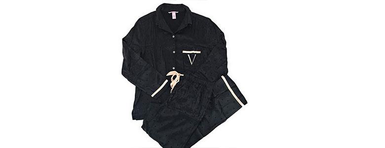 victoria secret satin pajamas