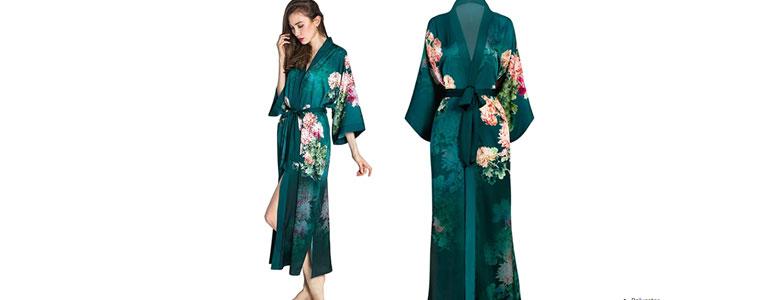 oldshanghai charmeuse kimono robe