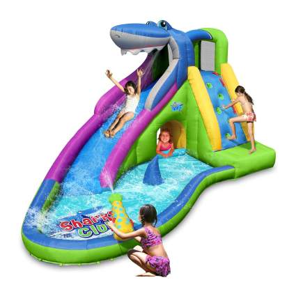 Action Air Inflatable Waterslide Shark Bounce House