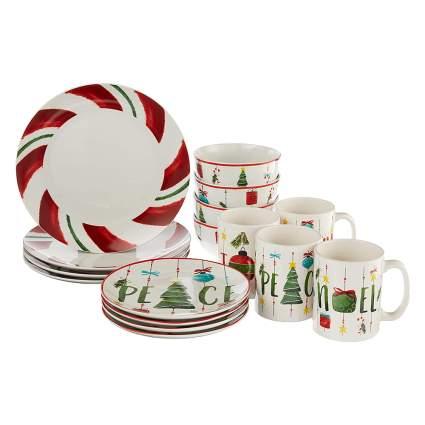 christmas dishware set