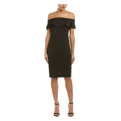 black off the shoulder party dress
