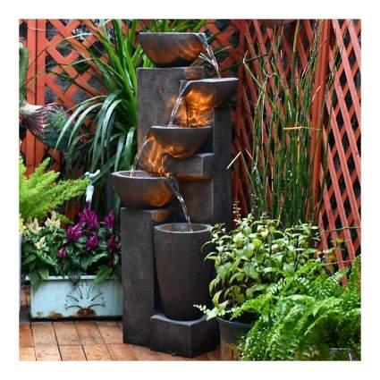 five tier outdoor water fountain