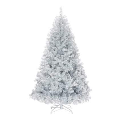 Light silver wide Christmas tree
