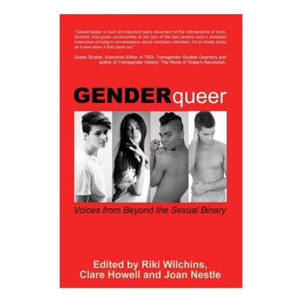 Red book cover or GenderQueer anthology
