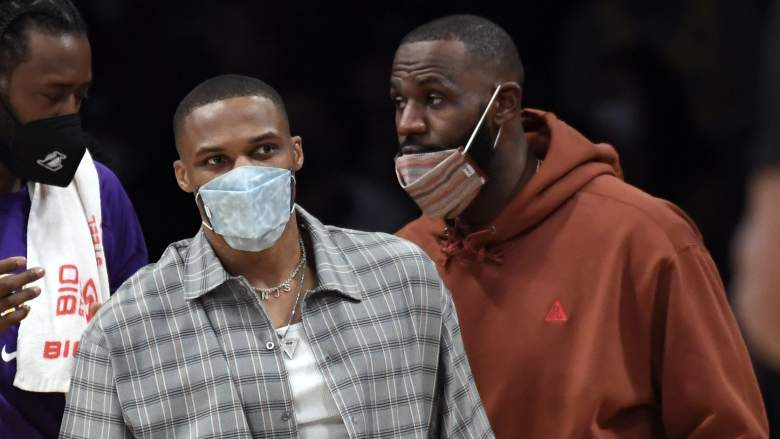 Russell Westbrook (left) and LeBron James