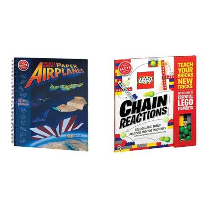 Klutz The Klutz Book of Paper Airplanes Craft Kit & Lego Chain Reactions