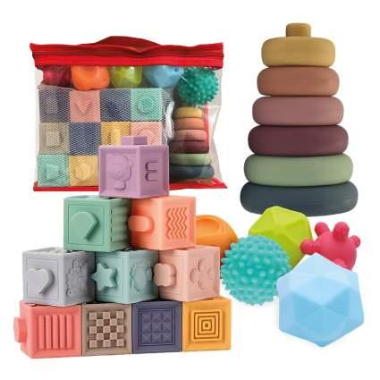 Montessori Toys for Babies 3-in-1 Soft Baby Toys Bundle