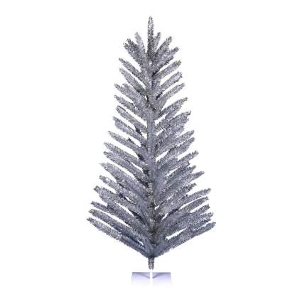 Vintage silver feather tree
