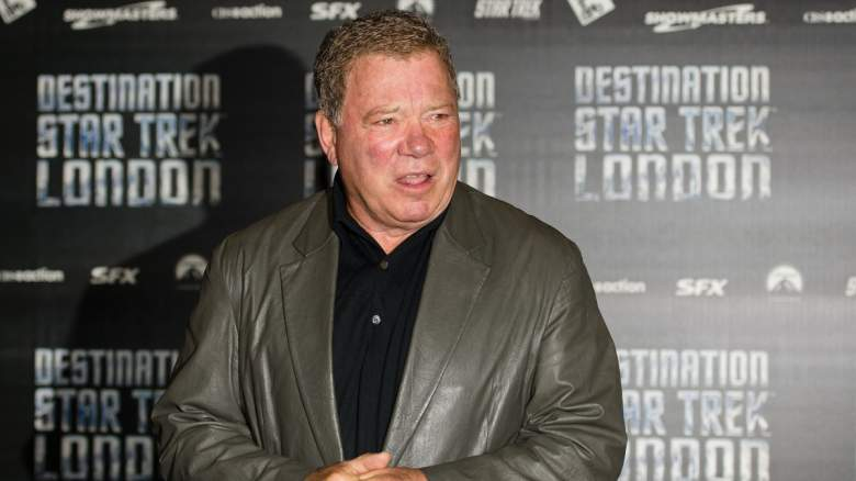 """William Shatner arrives at the opening of """"Destination Star Trek London"""", first official Star Trek event in the UK in a decade, at the ExCel centre in east London on October 19, 2012"""