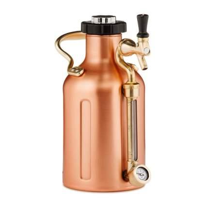 copper carbonated beer growler