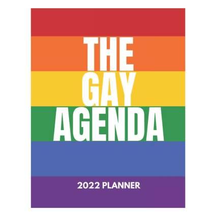 Rainbow gay agenda planner book