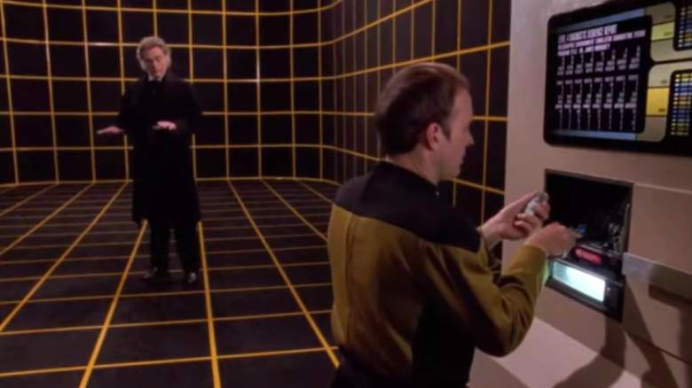 """Lieutenant Barclay works on the holodeck in an episode of """"Star Trek: The Next Generation"""""""