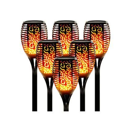 solar outdoor torch lights